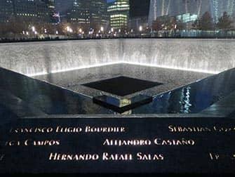 9/11 Memorial i New York - Om aftenen