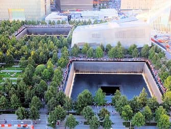 9/11 Memorial i New York - Ovenfra
