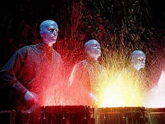 Blue Man Group i New York billetter - Våde trommer