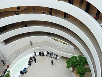 Guggenheim Museum i New York - Indefra