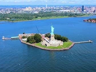 Helikoptertur i New York - Frihedsgudinden