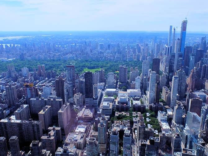 Helikoptertur i New York - Udsigt over Central Park