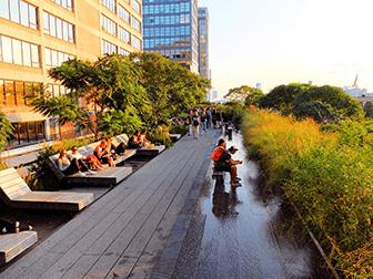 High Line Park i New York - Afslapning