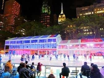 Løbe på skøjter i New York - Bryant Park