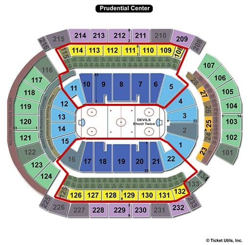 New Jersey Devils billetter - Prudential Center siddepladser