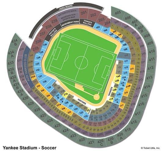 New York City FC billetter - Yankee Stadium siddepladser