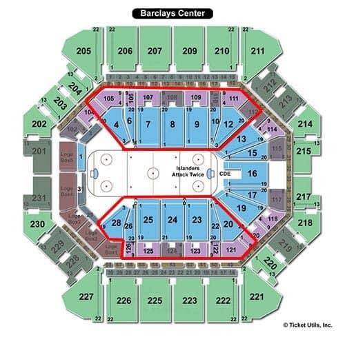New York Islanders billetter - Barclays Center bedste siddepladser
