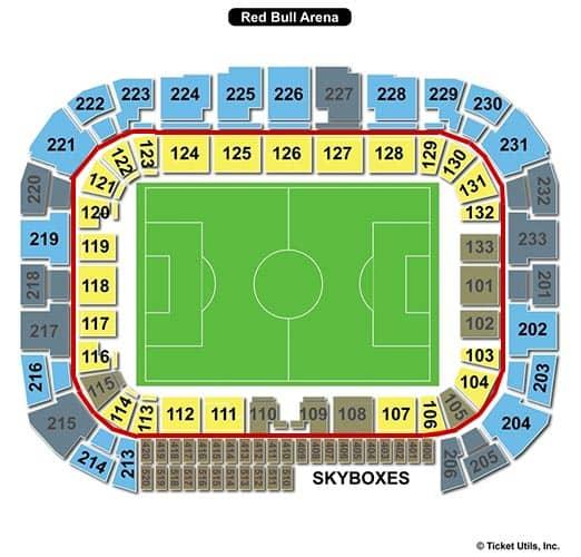 New York Red Bulls billetter - Red Bull Arena siddepladser