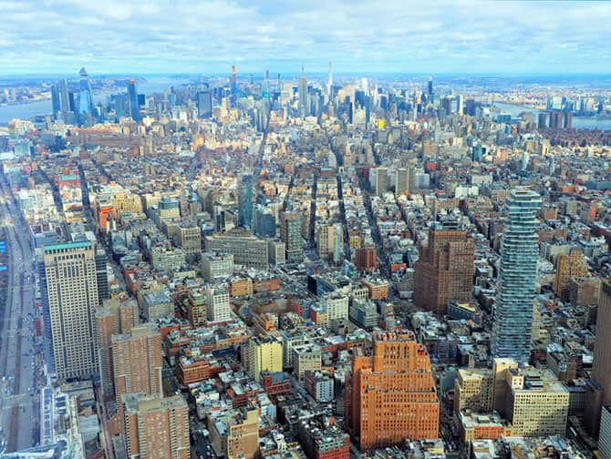 One World Observatory billetter - Udsigt over Manhattan