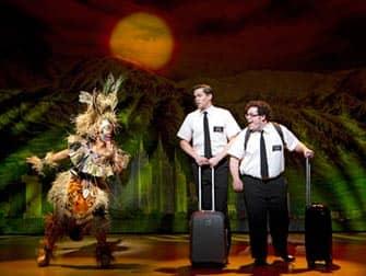 The Book of Mormon Broadway billetter - Ankomst
