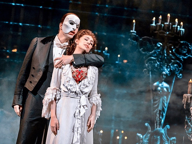 The Phantom of the Opera Broadway billetter - Fantomet og Christine