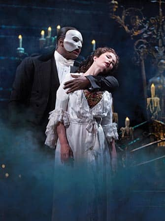 The Phantom of the Opera Broadway billetter - Fantomet og Christine