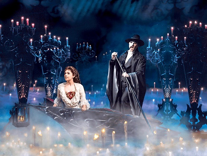 The Phantom of the Opera Broadway billetter - Sejltur