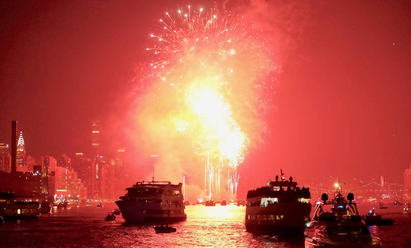 4th of July cruise i New York - Fyrværkeri