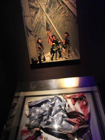 9/11 Museum i New York - Amerikansk flag