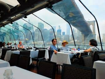 Bateaux Cruise med frokost i New York - Udsigt til Manhattans skyline
