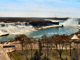 Dagstur fra New York til Niagara Falls med fly - Amerikanske side