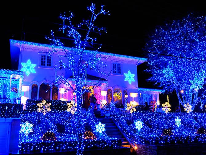 Dyker Heights Christmas Lights - Blå lys