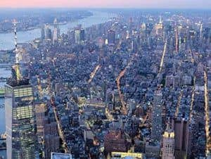 Helikoptertur om aftenen og sightseeing-cruise i New York