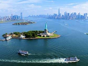 Helikoptertur uden døre i New York - Frihedsgudinden
