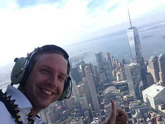 Helikoptertur uden døre i New York - Selfie