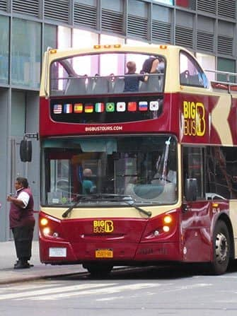 Hop-on-hop-off-bus i New York - Big Bus