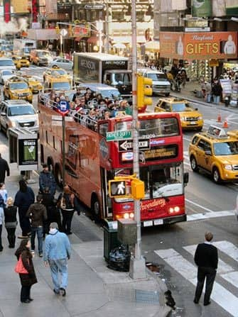 Hop-on-hop-off-bus i New York - Gray Line-bus