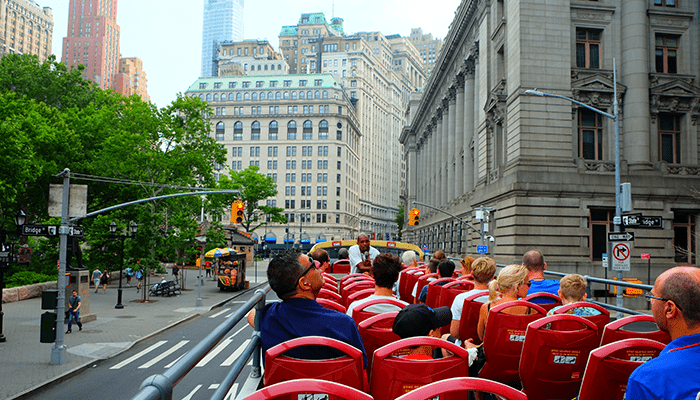 Hop-on-hop-off-bus i New York - Sightseeing