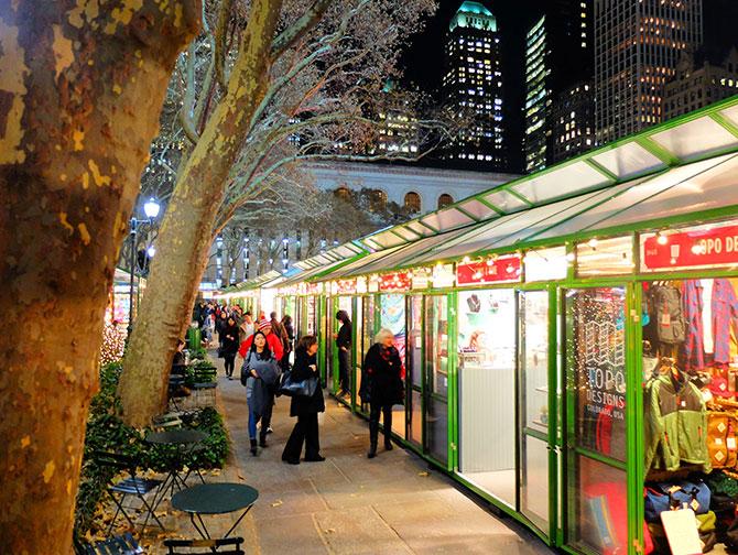 Juletid i New York - Bryant Park