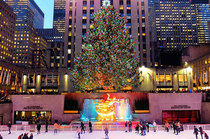 Juletid i New York - Rockefeller Christmas Tree