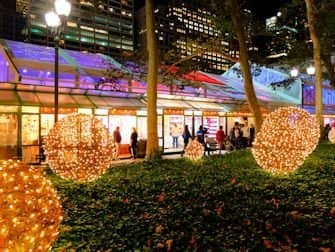 Markeder i New York - Bryant Park julepynt