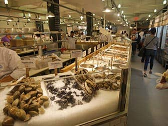 Markeder i New York - Fisk og skaldyr på Chelsea Market