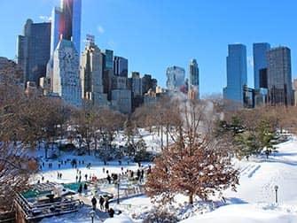 Nytårsdag i New York - Skøjteløb i Central Park