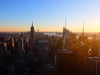 Nytårsdag i New York - Top of the Rock ved solnedgang