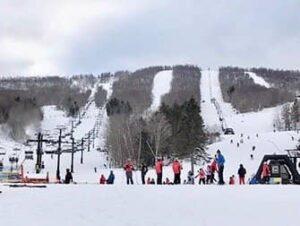 Ski- eller snowboard-dagstur i New York