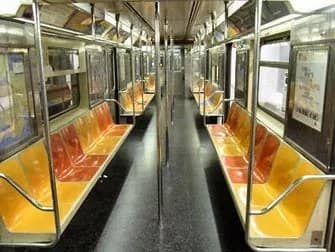 Subway i New York - Inde i toget