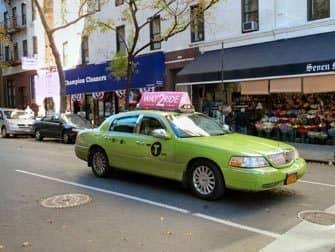 Taxa i New York - Limegrøn taxa