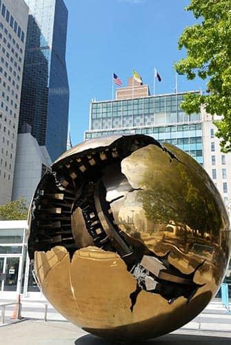 De Forenede Nationer i New York - Globus