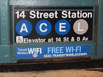 Gratis wi-fi i New York - Gratis wi-fi på subway-stationen