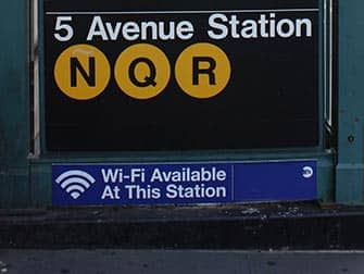 Gratis wi-fi i New York - Wi-fi på 5th Avenue Station