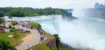 Niagara Falls med fly