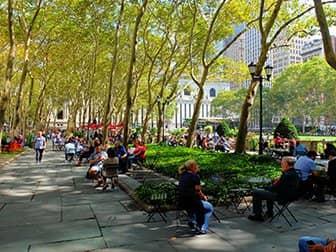 Parker i New York - Bryant Park terrasse