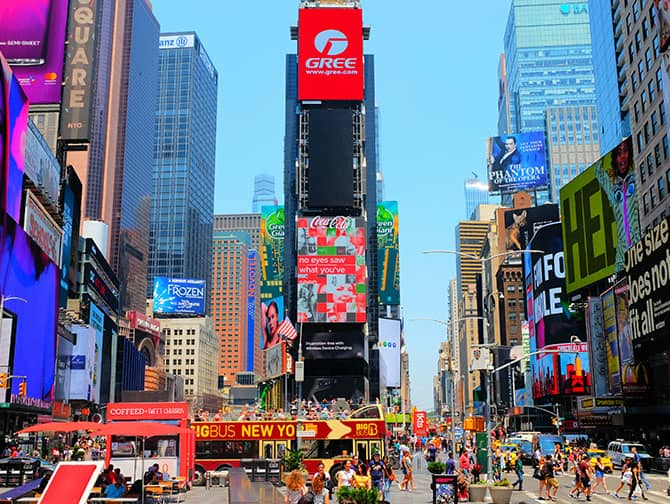 Times Square i New York - Billboards