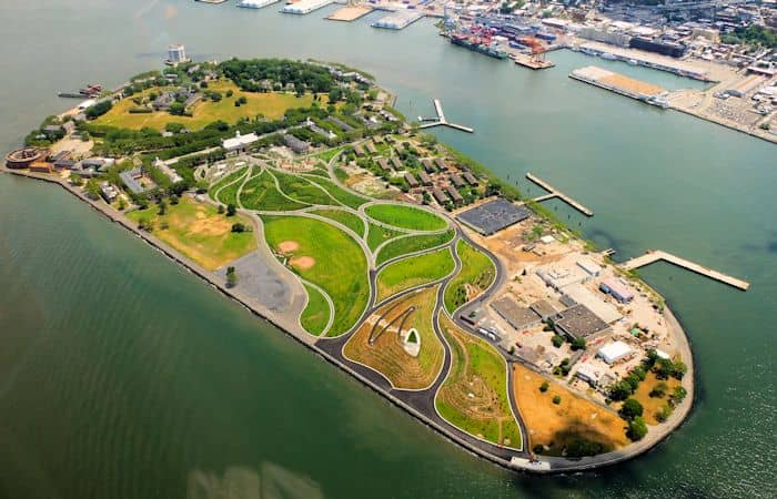 Governors Island New York - Luftfoto