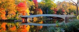 Guidet tur til filmlokationer i Central Park - Bow Bridge