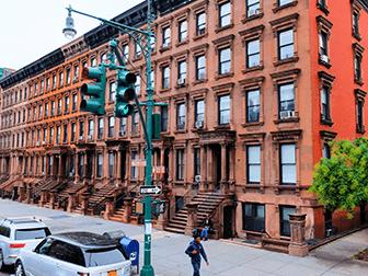 Harlem i New York - Brownstone-huse
