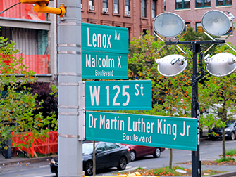 Harlem i New York - Vejskilte