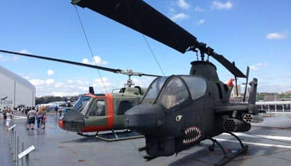 Intrepid Sea, Air and Space Museum in New York - Helikopter