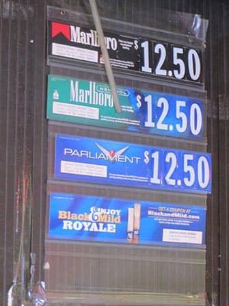Rygning i New York - Priser