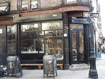 Bedste kaffe og bagels i New York - Irwing Farm